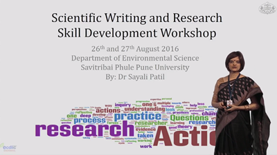 Scientific Writing and Research Skill Development workshop
