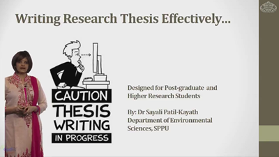 Writing Research Thesis Effectively