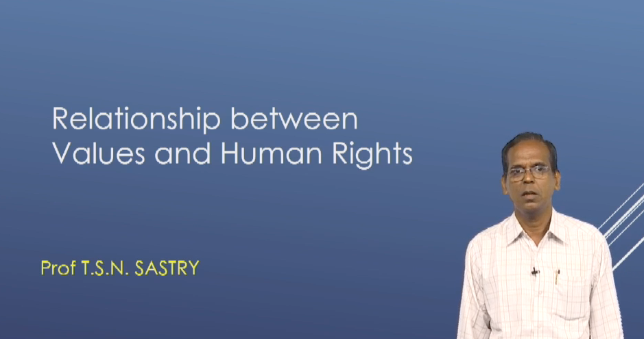 Relationship between Values and Human Rights