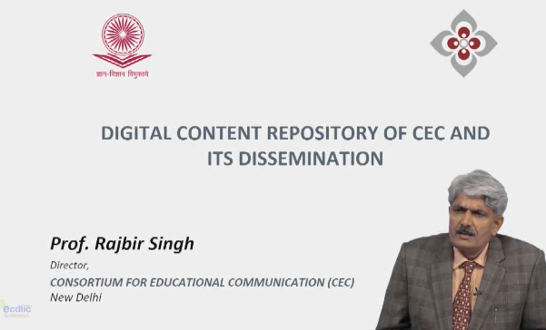 Digital Content Repository of CEC and its dissemination