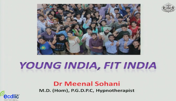 Young India - Fit India, Special Talk by Dr. Meenal Sohani